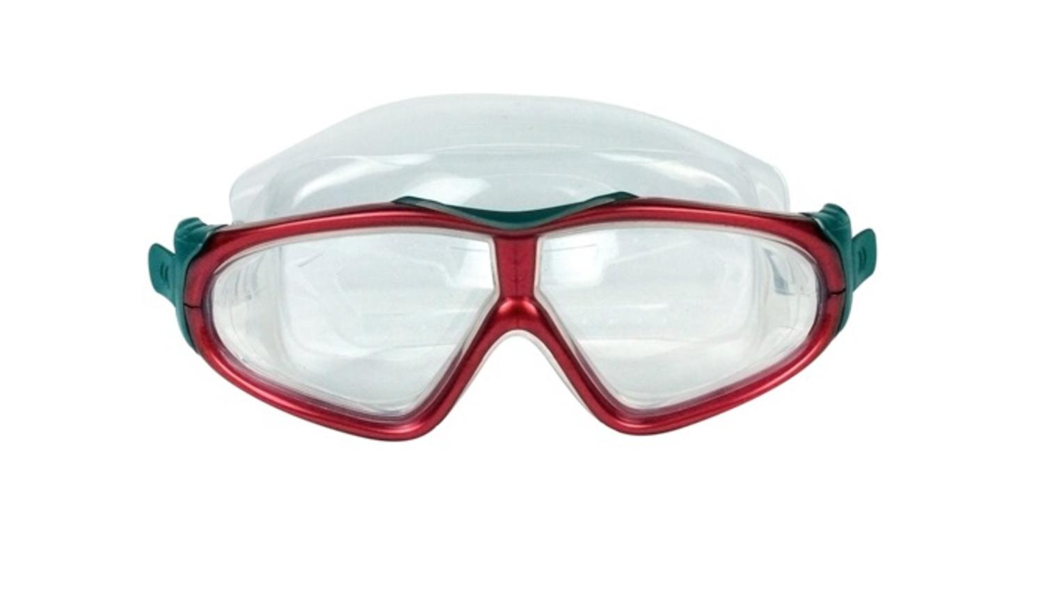 """7"""" EZ Fit DLX Sport Red Goggles Swimming Pool Accessory for Adults and Children by Swim Central"""