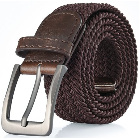 Gallery Seven Woven Elastic Braided Belt For Men - Fabric Stretch Casual Belt (Fabric Mens Belt)