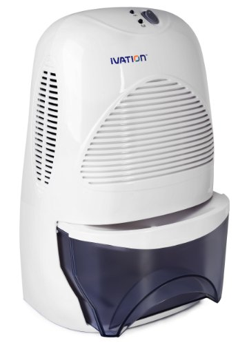 For Small Spaces of Up to 100 Square Feet Ivation IVADM45 Powerful Mid-Size Thermo-Electric Intelligent Dehumidifier w//Auto Humidistat