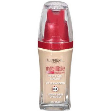 L'Oreal Paris Infallible Never Fail Liquid Makeup with SPF 20, Nude Beige