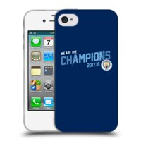 OFFICIAL MANCHESTER CITY MAN CITY FC 2017/18 CHAMPIONS SOFT GEL CASE FOR APPLE IPHONE PHONES