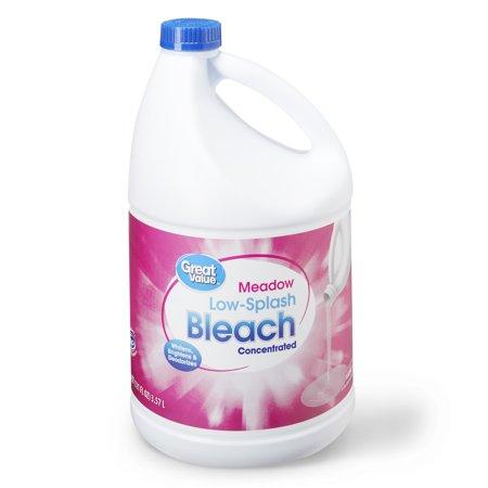 Great Value Low Splash Bleach, Meadow Scent, 121 fl oz