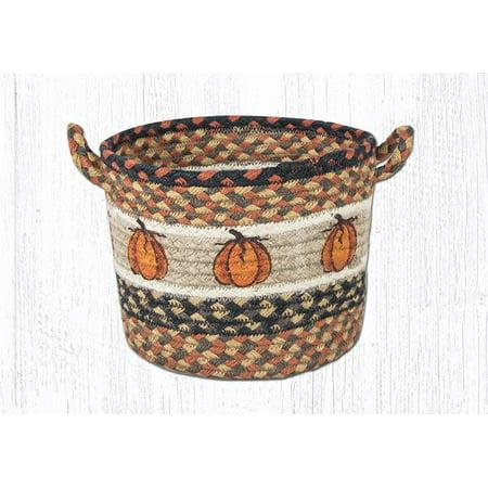 Earth Rugs UBP-222 Harvest Pumpkin Printed Utility Basket 9