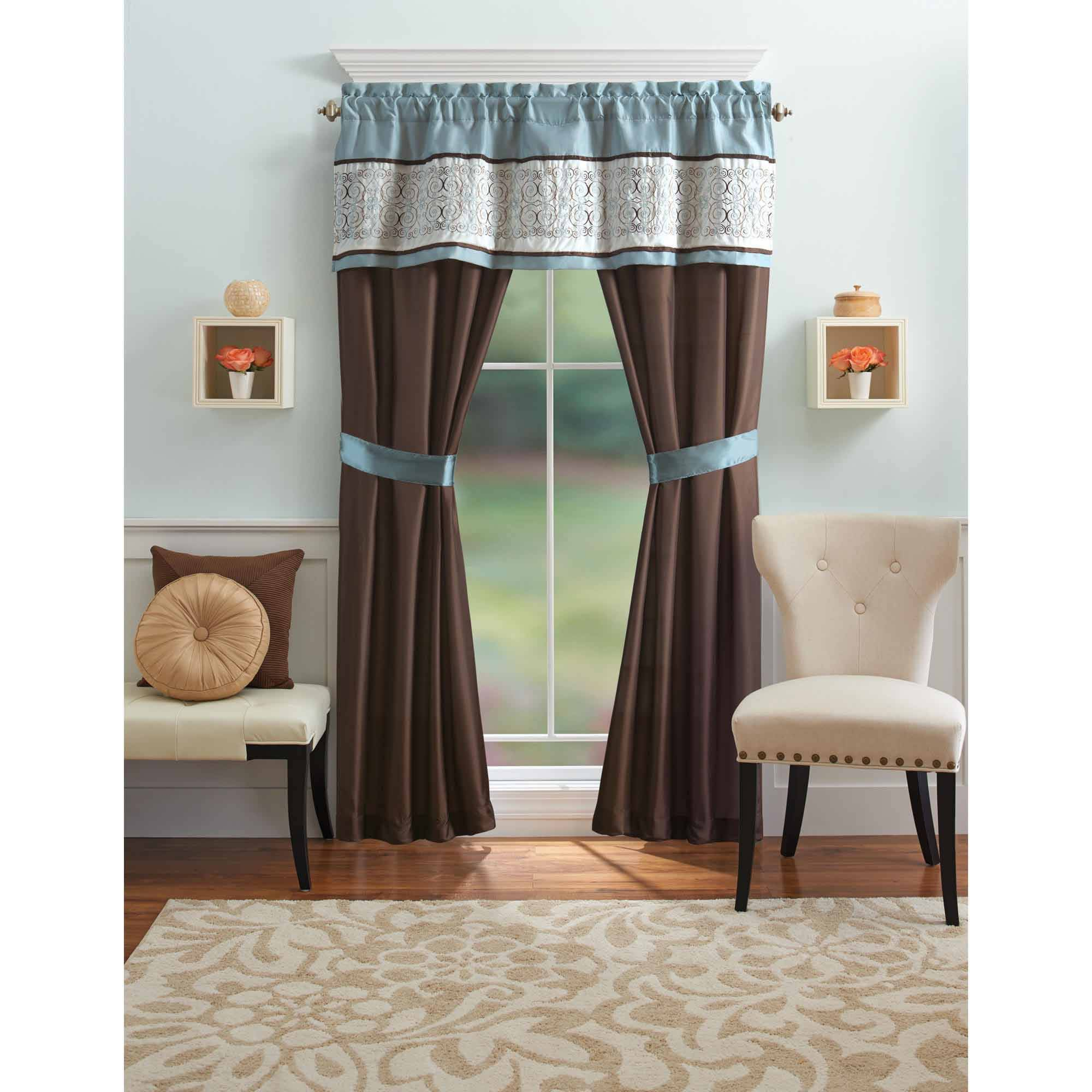 Your Zone Crushed Ombre Long Curtains Gray Walmart Com