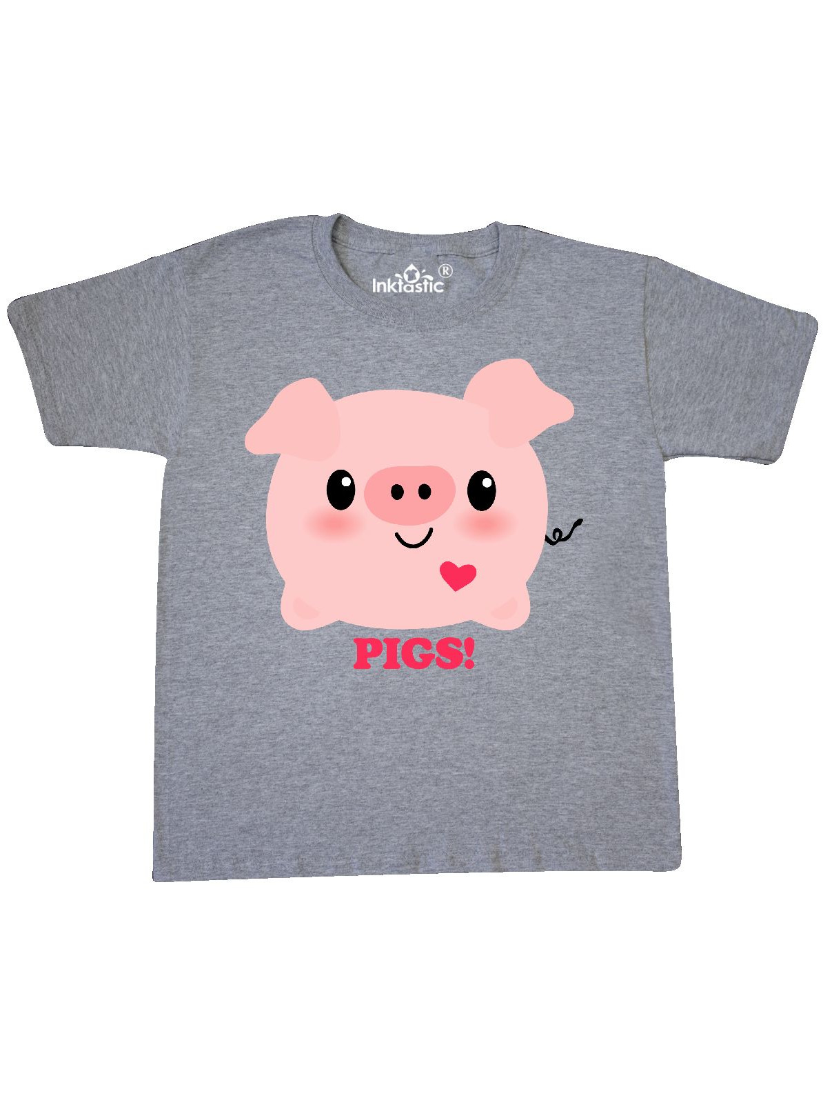 Kawaii I Love Pigs Youth T-Shirt