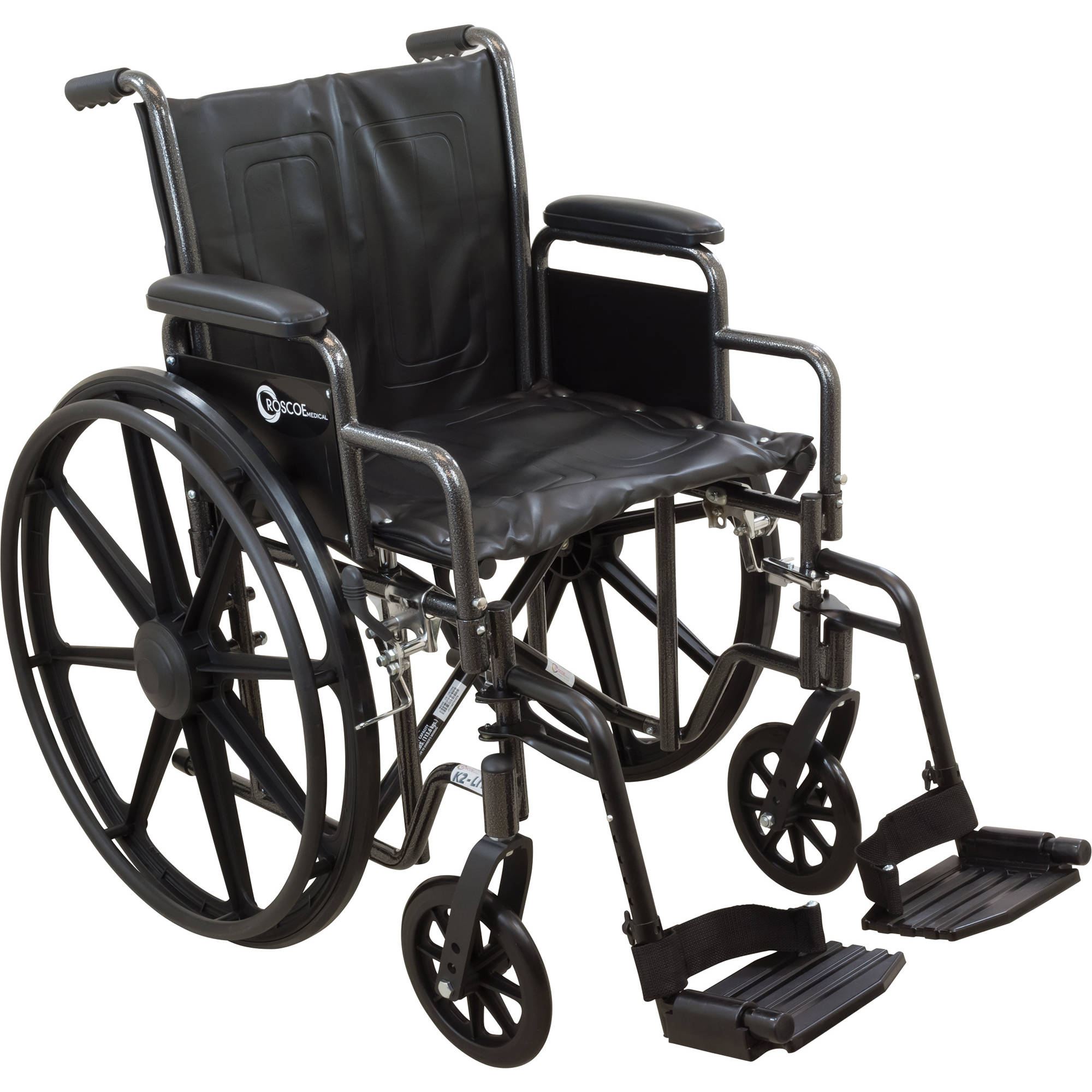 "Roscoe K2-Lite Wheelchair, 16"" Seat with Swing Away Footrests"