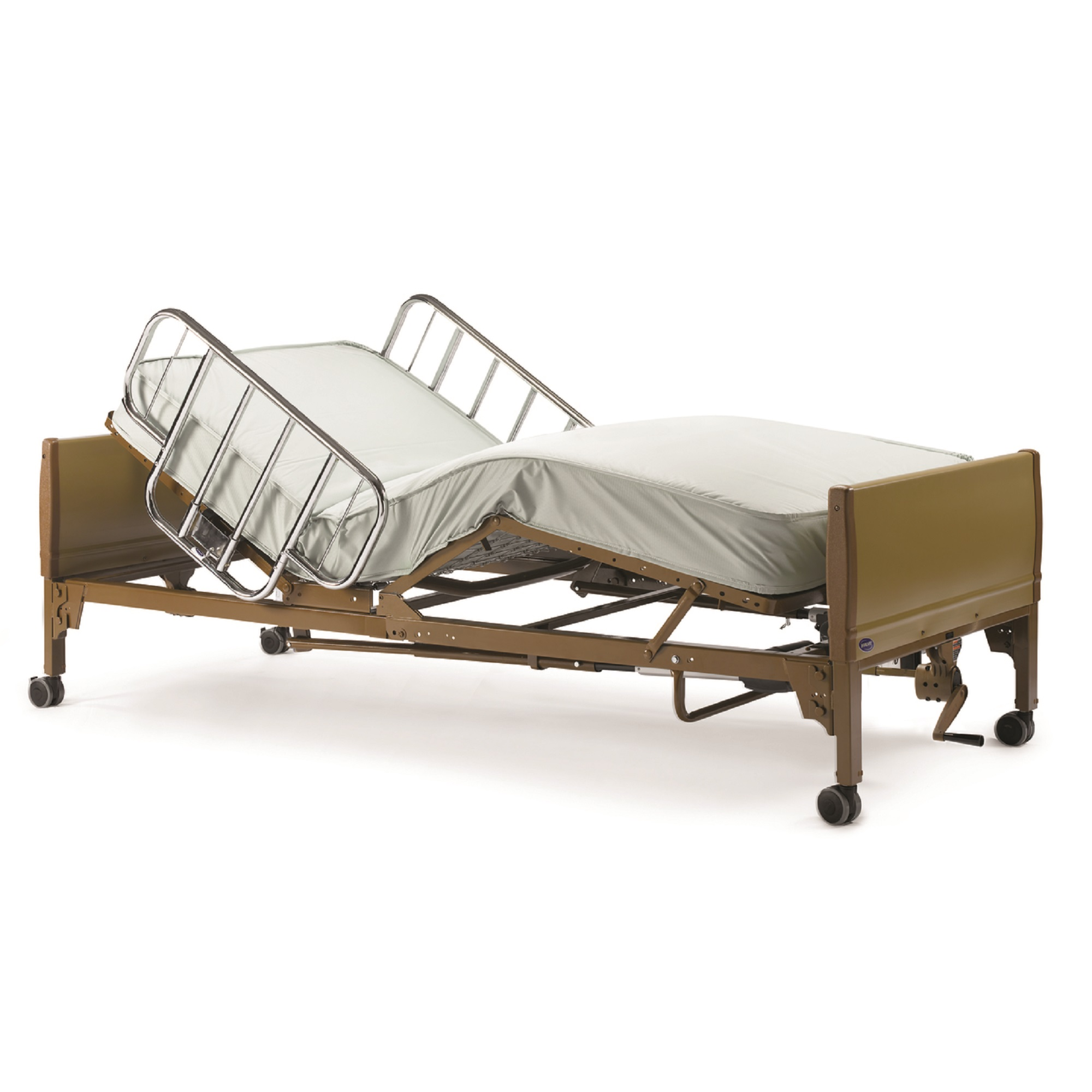 Invacare Semi-Electric Homecare Bed with Innerspring Matt...
