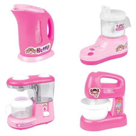 Kids Kitchen Set , Home Mini Appliances, Kitchen Toy Set Household Appliance Kitchen Play Set Pretend Food Play For Kids Girls, Set Of 4 PS583