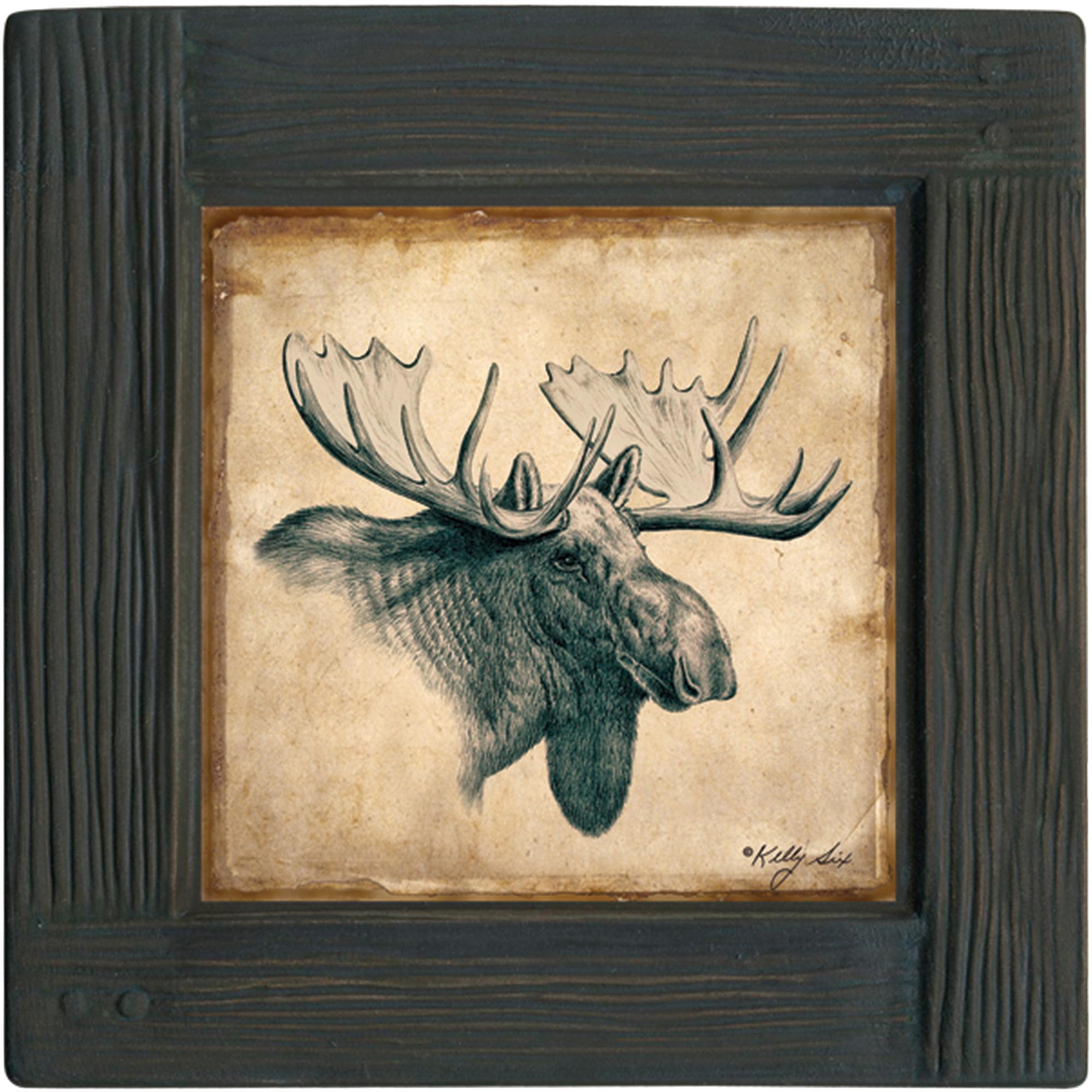 Thirstystone Ambiance Drink Coasters Set, Moose, Lodge