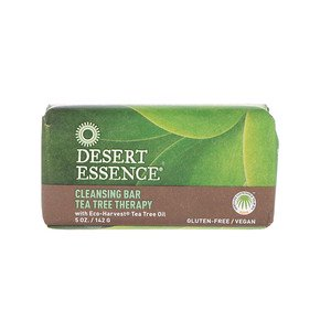 Desert Essence, Cleansing Bar Tea Tree Therapy, 5 oz (142 g) (Pack of 4)