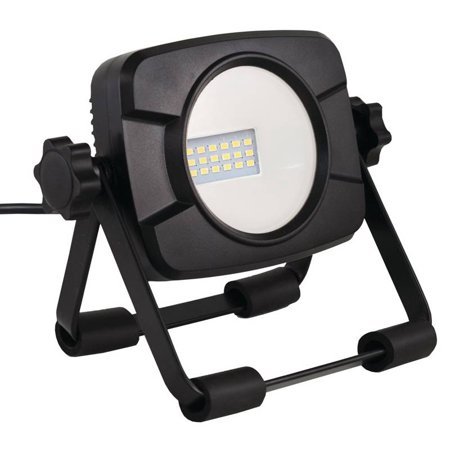 PowerZone Work Light With Stand, 15 W, 120 Vac, Led Bulb, 1000 Lumens, 4000 K, Cri 80, 5 Ft