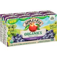 (40 Boxes) Apple & Eve Organics, Grape Juice, 6.75 fl oz