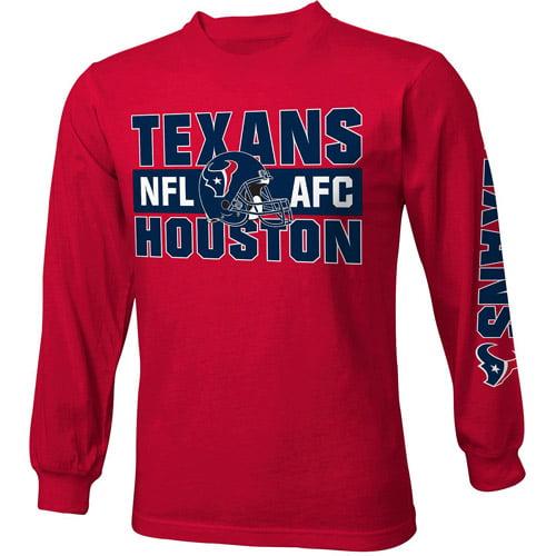 NFL Boys' Houston Texans Long Sleeve Tee