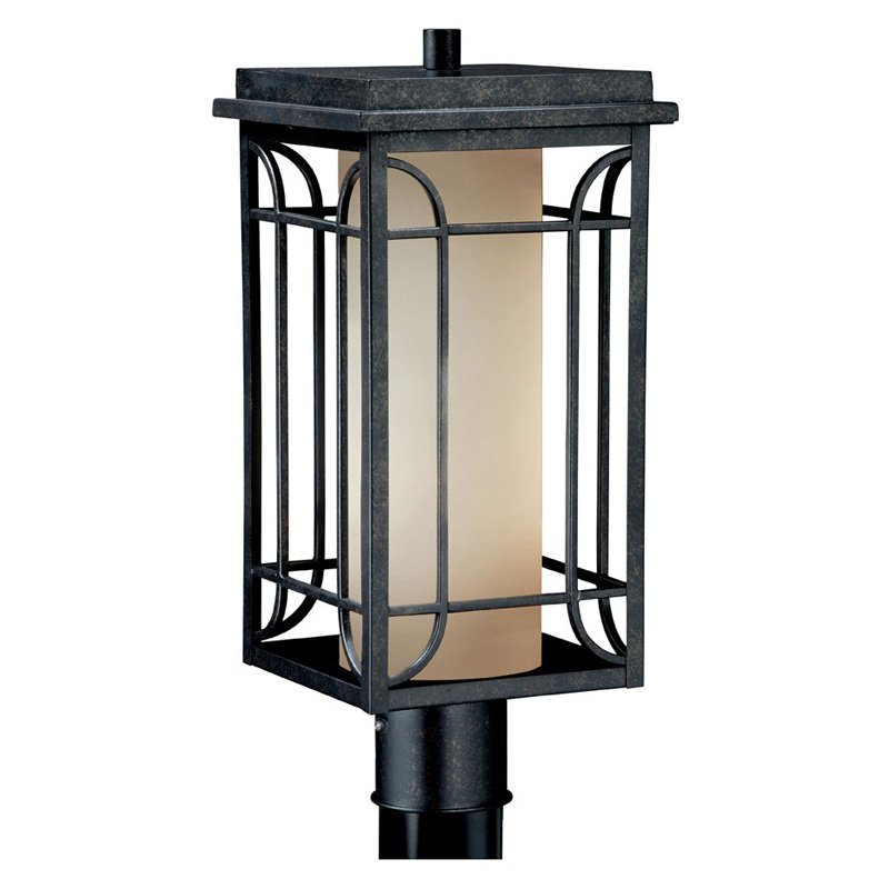 Vaxcel Newport Outdoor Post Light - 8W in. Gold Stone