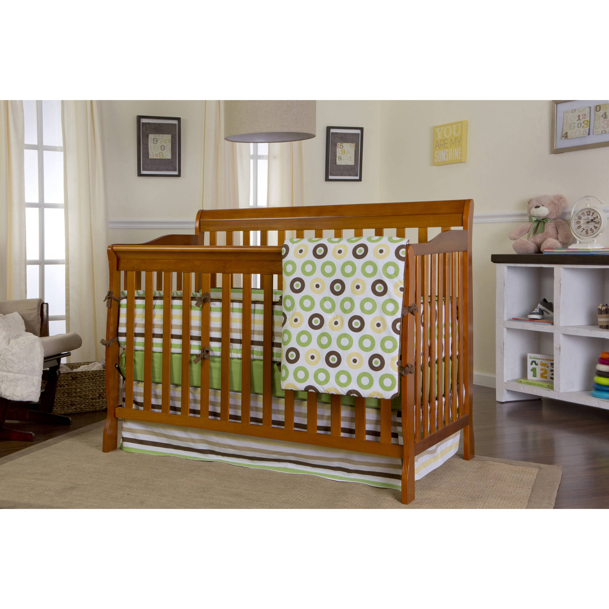 Dream On Me Ashton Convertible 5-in-1 Crib in Pecan