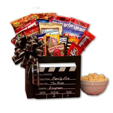 Gift Basket Drop Shipping Family Flix Movie Night Gift Box With 10 00 Redbox Gift Card