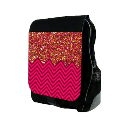 Glitterblock PRINT Chevrons  - Backpack and Pencil Bag Set