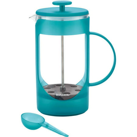 BonJour Coffee Unbreakable Plastic French Press, 33.8 oz, Ami-Matin, Blue - Walmart.com