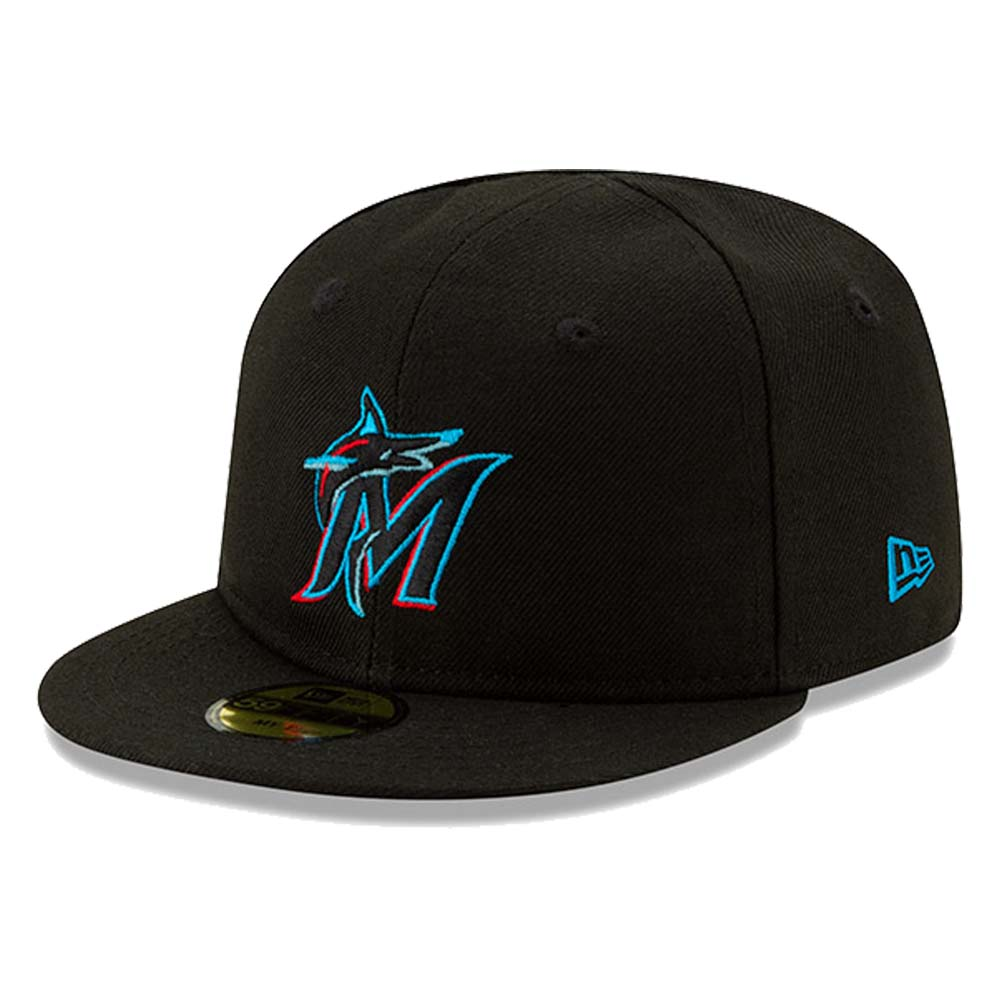 Miami Marlins New Era Infant 2019 Authentic Collection On-Field My First 59FIFTY Fitted Hat - Black - 6