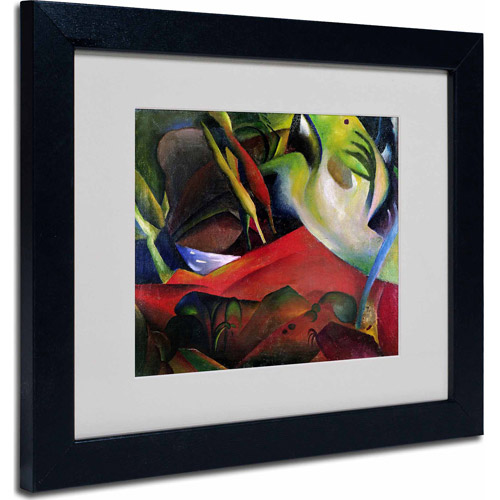 "Trademark Fine Art ""The Storm, 1911"" Matted Framed Art by August Macke, Black Frame"