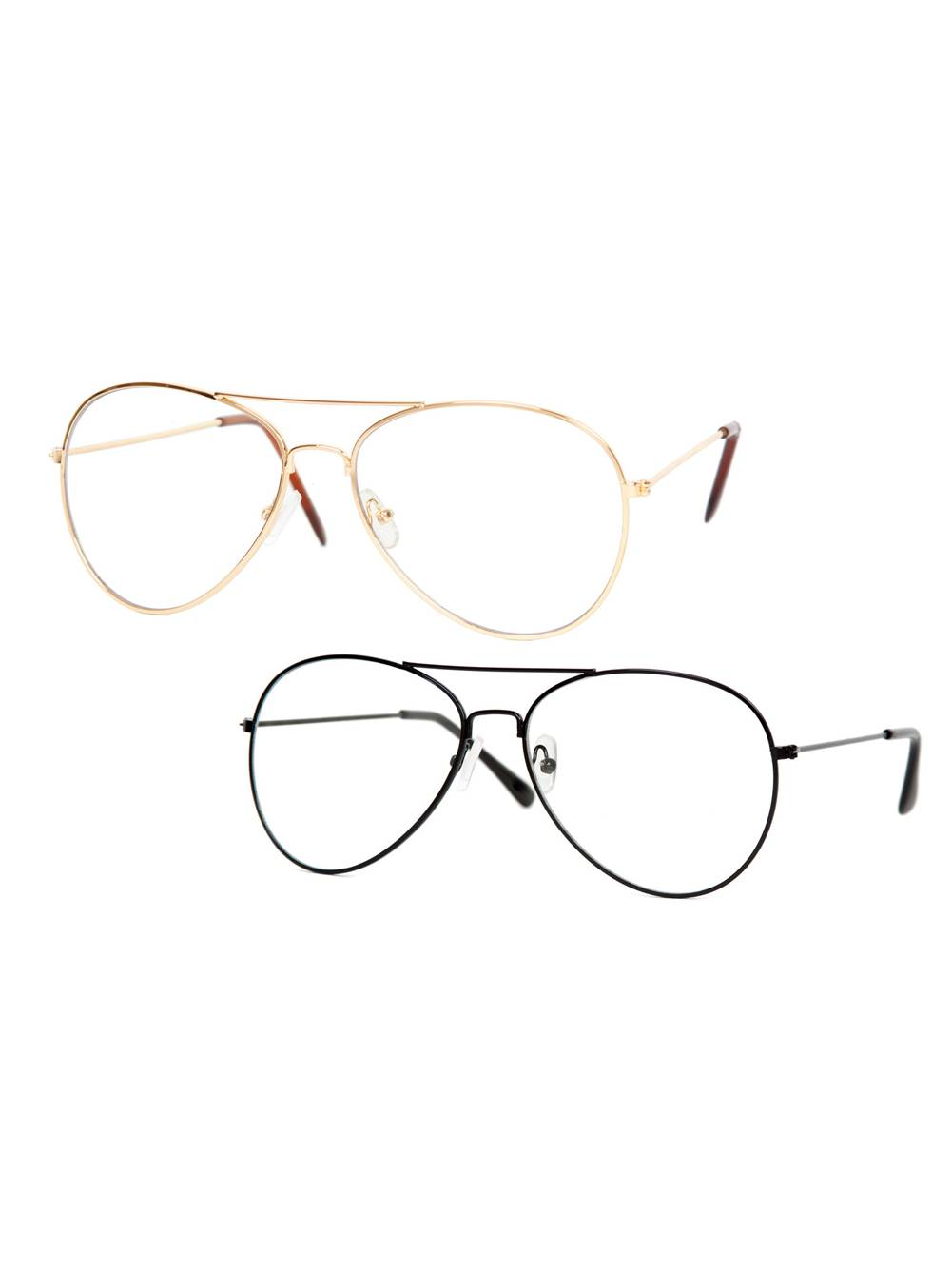 Gravity Shades Clear Lens Gold Aviator Sunglasses