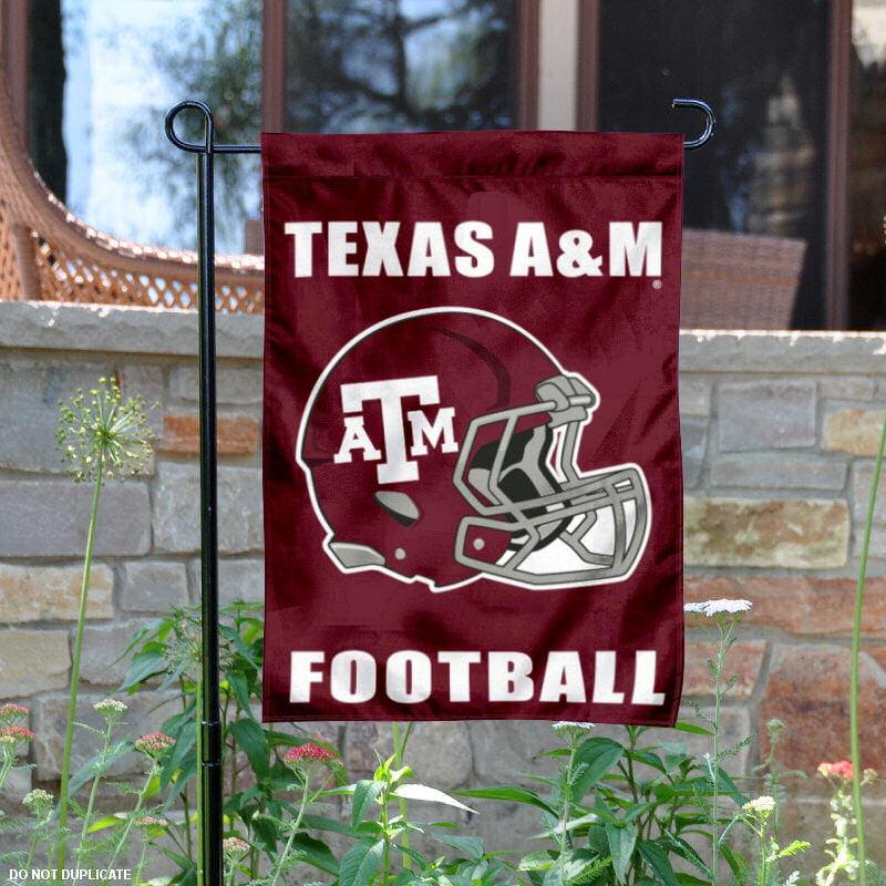 "Texas A&M Aggies Football Helmet 13"" x 18"" College Garden Flag"