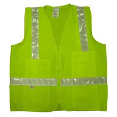 Lime Mesh Surveyor Vests Class 2 With Silver Stripes   Size Small  Designed For Traffic Areas Over 25 Mph But Under 55 Miles Per Hour By Ironhorse Bicycles