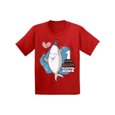 Birthday Gift Ideas 2 Year Old Boy (Awkward Styles I am One T-shirt for Infants Shark Shirts for Boys First Birthday Party Shark Lovers Shark Party Shark T Shirts for Girls Gifts for 1 Year Old Children)