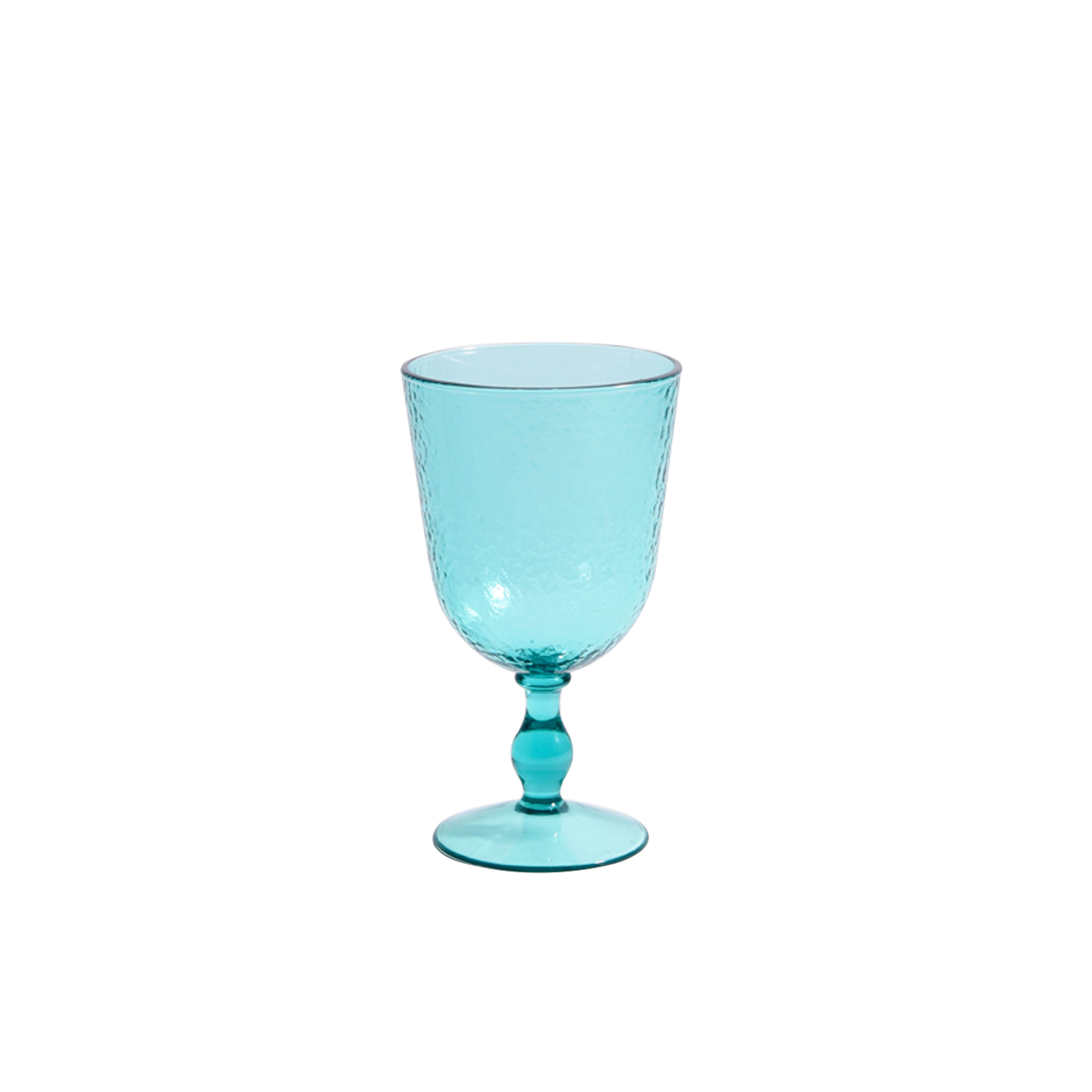 Patricia Heaton Home Southampton 14oz Turquoise Water Goblet Set, 12-Pack