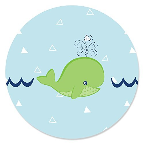 Tale Of A Whale - Party Circle Sticker Labels - 24 Count