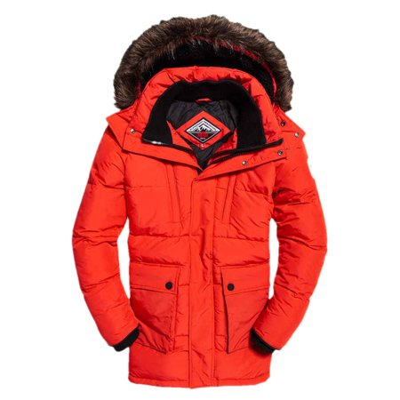 Superdry Men's SD Expedition Parka Jacket, Red, XX-Large
