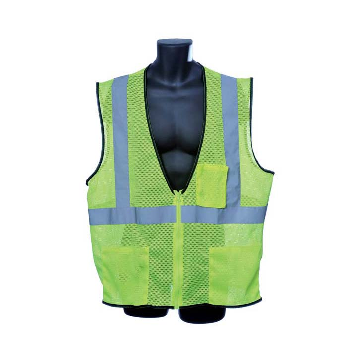 Class II Lime Green Mesh Vest. Size: X-Large Lot of 1 Pack(s) of 1 Unit