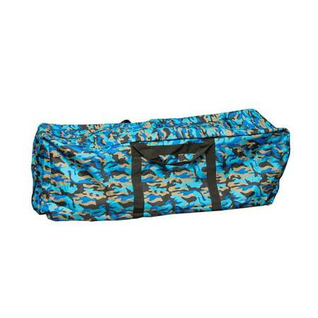 Intrepid International 1653CB Hay Bale Storage Bag 3-Wire Horse Hay Storage, Blue & Camo (Hay Bale Bag)