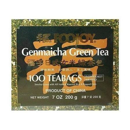 Genmaicha Green Tea - Foojoy Genmaicha Green Tea 100 Individually Wrapped Teabags + One NineChef Spoon Per Order