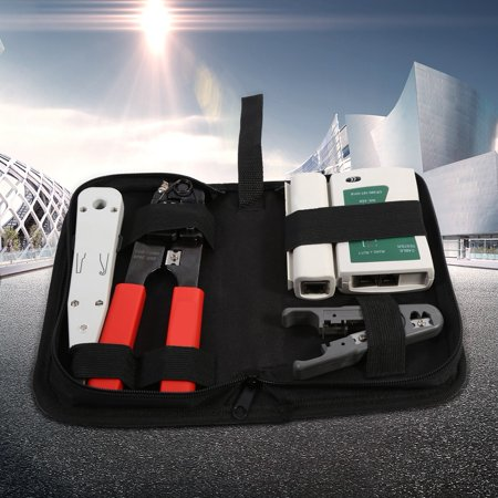 Ejoyous RJ45 RJ11 LAN Network Tool Set Kit Cable Tester Crimper Wire Cutter Punch Down, Network Tool Set Kit - image 6 of 9