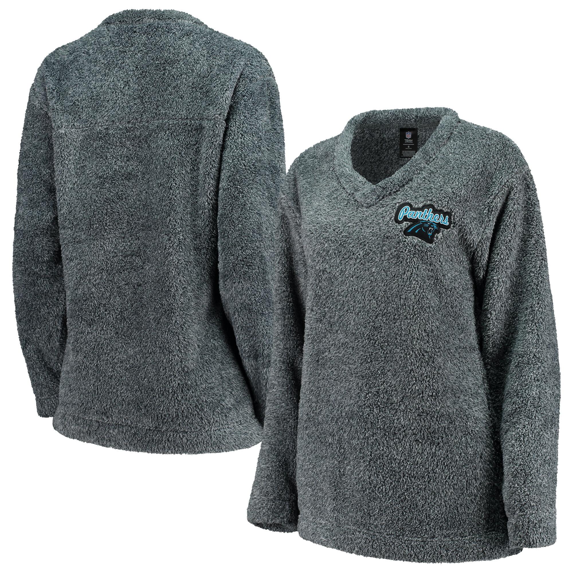 Carolina Panthers Concepts Sport Women's Trifecta Pullover Sweatshirt - Charcoal
