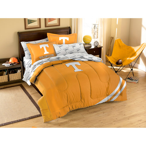 NCAA Applique Bedding Comforter Set with Sheets, University of Tennessee