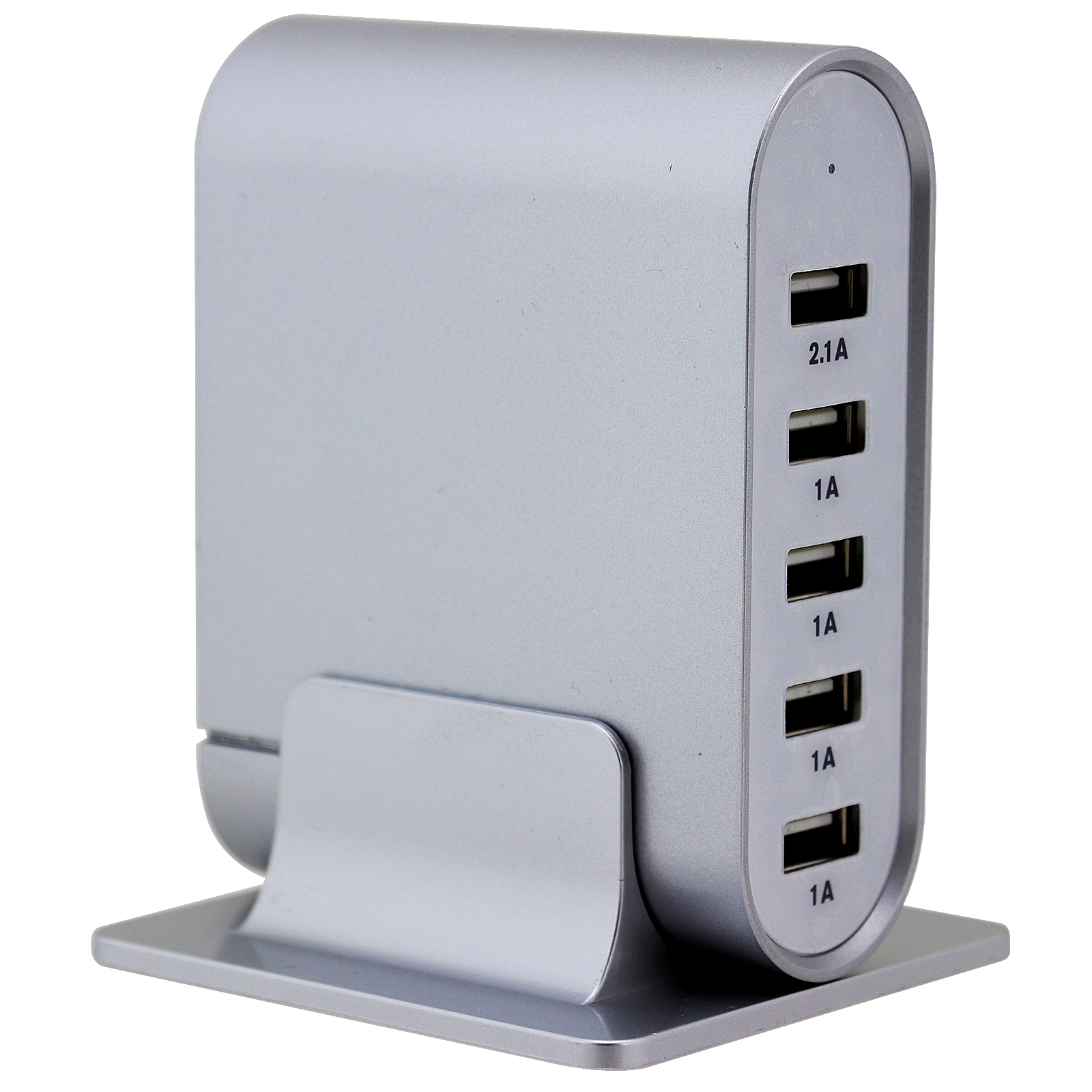 Trexonic 7.1A 5-Port Universal USB Compact Station, Silver