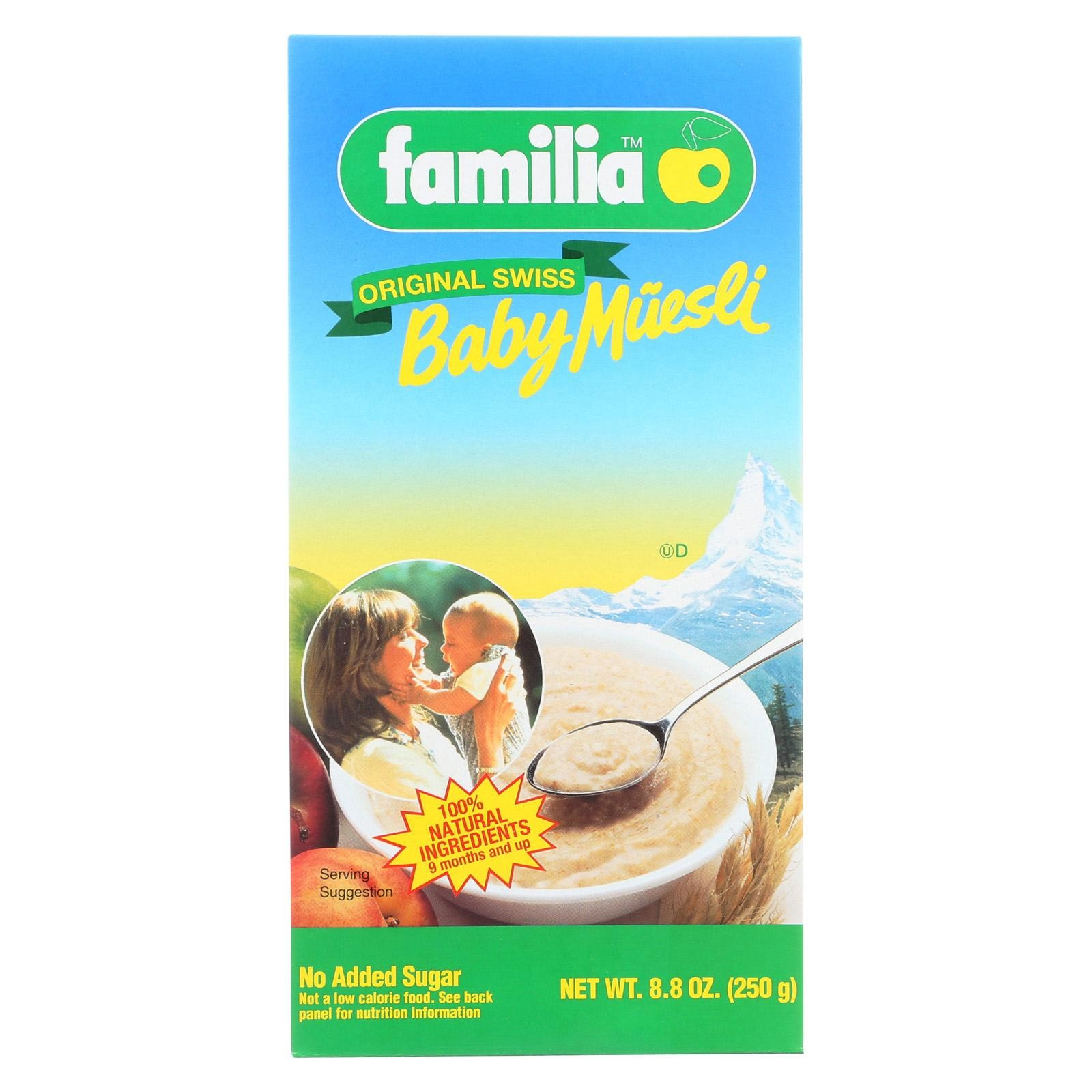 Familia Baby Muesli - Original Swiss - Pack of 6 - 8.8 Oz
