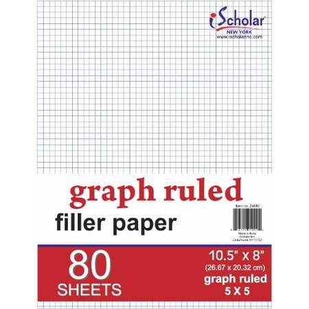 ischolar quad filler paper 5 squares per inch 10 5 x 8 inches 80