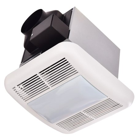 Bathroom 50 CFM Ceiling Wall Mounted Exhaust Fan w/ Light ...
