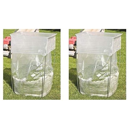 """Bag Buddy Bag Holder - Versatile Metal Support Stand 39-45 Gallon Plastic Paper Bags - Use Leaves, Yard Work, Laundry, Trash More - 30"""" h (Pack of 2)"""