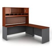 Bush Series C L-Shaped Desk and Hutch