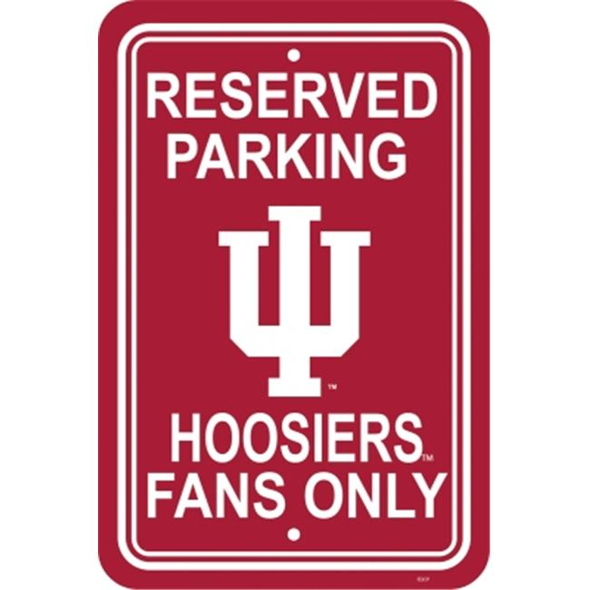 Fremont Die 50225 Indiana Hoosiers- 12 inch X 18 inch Plastic Parking Sign