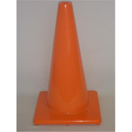 Everrich Evb 0032 1 18 In  Height Vinyl Cones Square Base  Orange