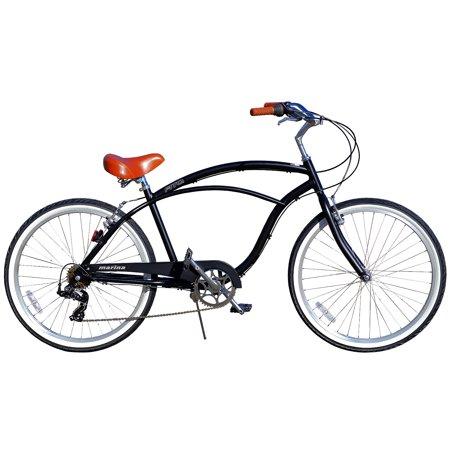 Fito Marina Aluminum Alloy 7-speed beach cruiser bike for men (Matte Black)