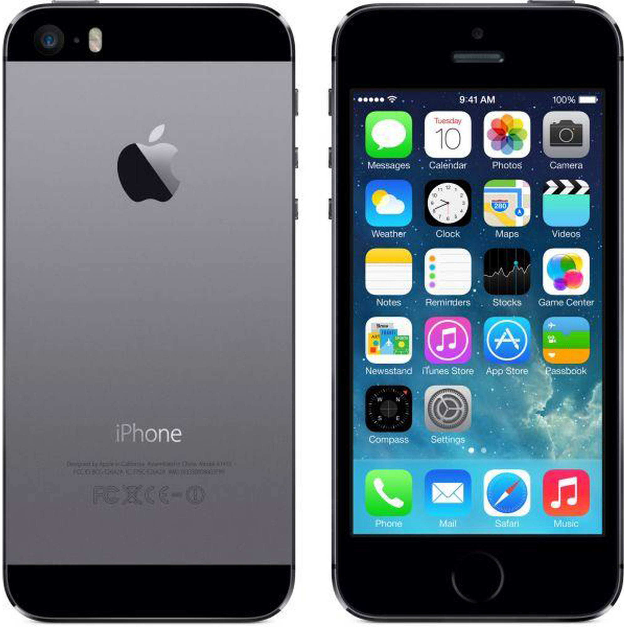 Grade-B Refurbished Apple Iphone 5S 16GB GSM Unlocked IOS Smartphone - Space
