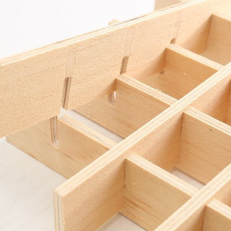 34 Slots Wooden Essential Oil Storage Box Buckle Carrying Case Home Container - image 1 of 7