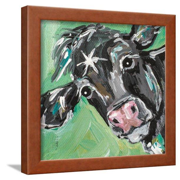 Black Cow Framed Print Wall Art By Molly Susan Walmart Com Walmart Com