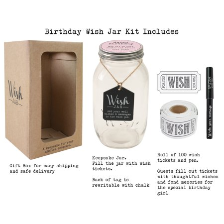 Top Shelf Pink Happy Birthday Wish Jar ; Keepsake Gift for Her ; Unique and Thoughtful Gift Ideas for Mother, Grandma, Daughter, and Best Friend ; Kit Comes with 100 Tickets and Decorative Lid](Best Friend Halloween Ideas)